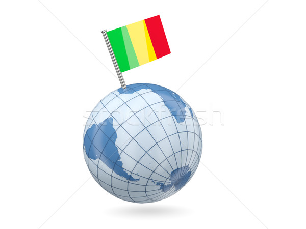 Globe with flag of mali Stock photo © MikhailMishchenko