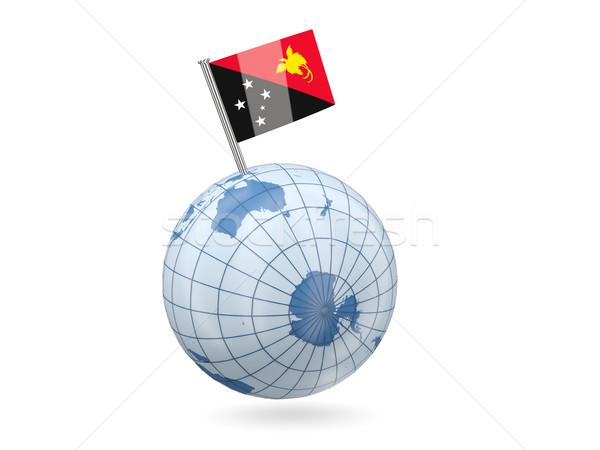 мира флаг Папуа-Новая Гвинея синий изолированный белый Сток-фото © MikhailMishchenko