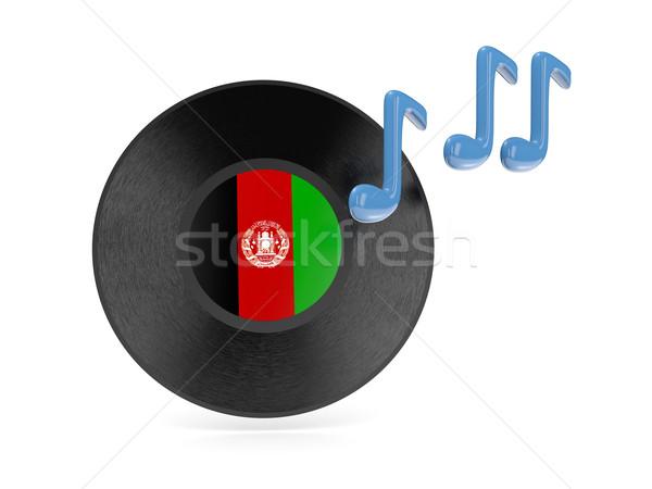 Vinil disk bayrak Afganistan yalıtılmış beyaz Stok fotoğraf © MikhailMishchenko
