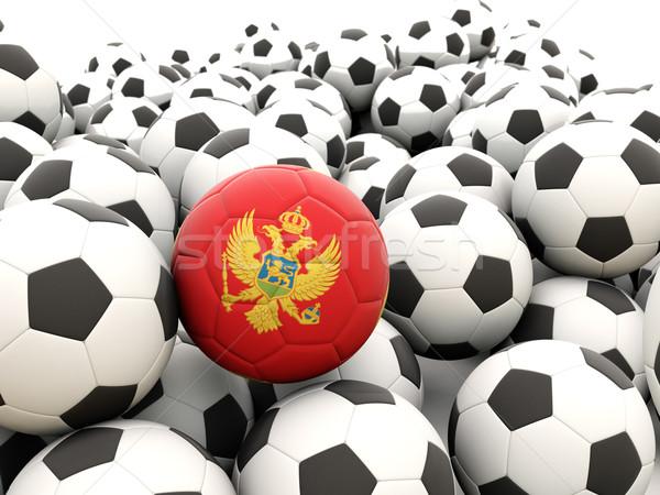 Voetbal vlag Montenegro regelmatig zomer Stockfoto © MikhailMishchenko