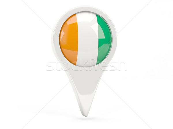 Round flag icon of cote d Ivoire Stock photo © MikhailMishchenko