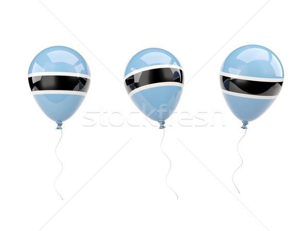 Powietrza balony banderą Botswana odizolowany biały Zdjęcia stock © MikhailMishchenko