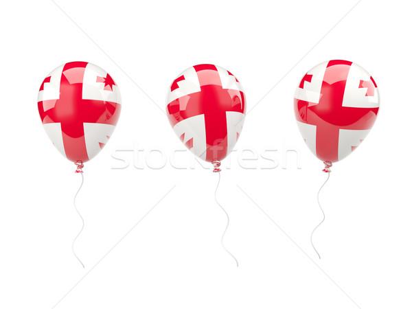 Air balloons with flag of georgia Stock photo © MikhailMishchenko