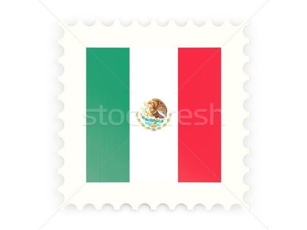 почтовая марка икона Мексика изолированный белый почты Сток-фото © MikhailMishchenko