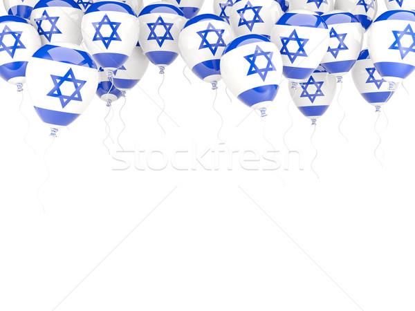 Ballon cadre pavillon Israël isolé blanche Photo stock © MikhailMishchenko