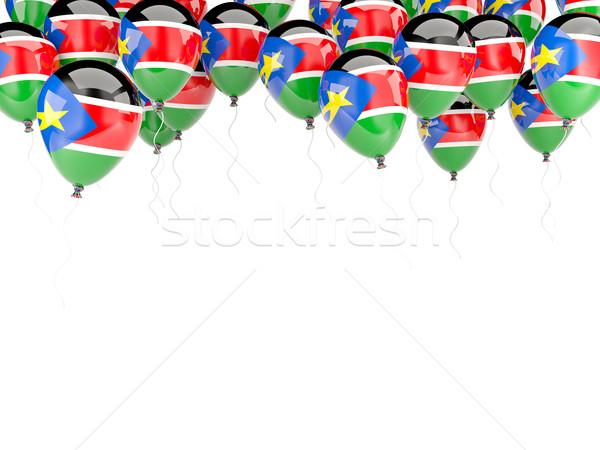 Ballon frame vlag zuiden Soedan geïsoleerd Stockfoto © MikhailMishchenko