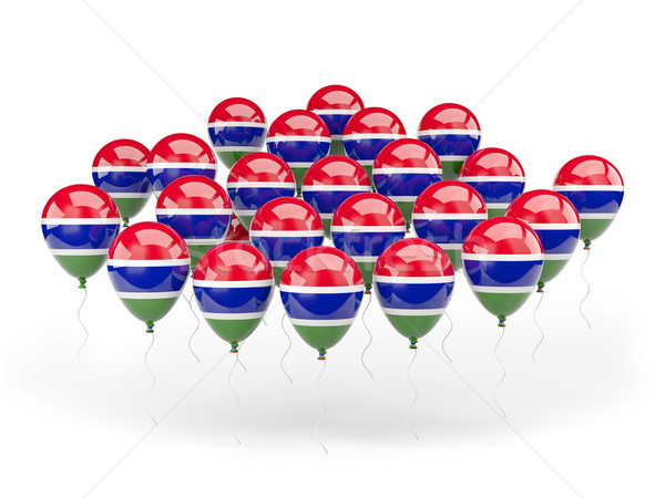 Stock photo: Balloons with flag of gambia