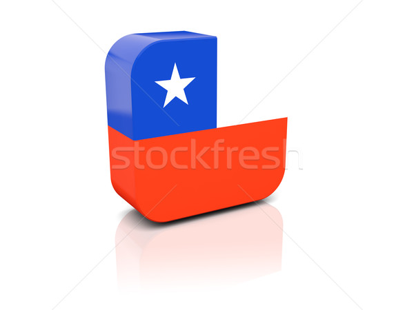 Square icon with flag of chile Stock photo © MikhailMishchenko