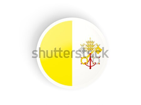 Ikon zászló Vatikán izolált fehér utazás Stock fotó © MikhailMishchenko