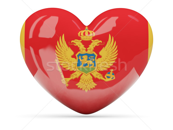 Heart shaped icon with flag of montenegro Stock photo © MikhailMishchenko