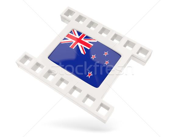 Película icono bandera Nueva Zelandia aislado blanco Foto stock © MikhailMishchenko