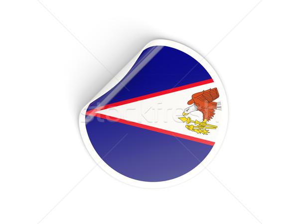 Sticker vlag Amerikaans Samoa geïsoleerd witte reizen Stockfoto © MikhailMishchenko