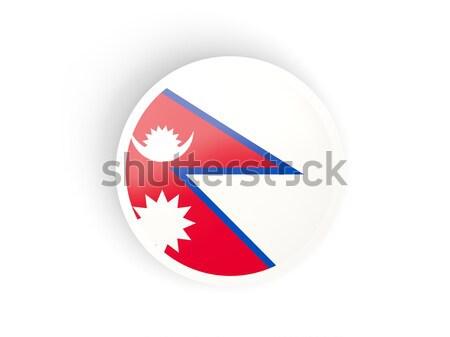 наклейку флаг Непал изолированный белый путешествия Сток-фото © MikhailMishchenko