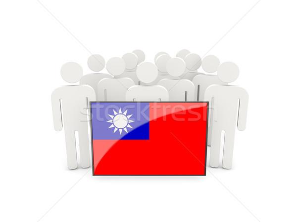 People with flag of republic of china Stock photo © MikhailMishchenko