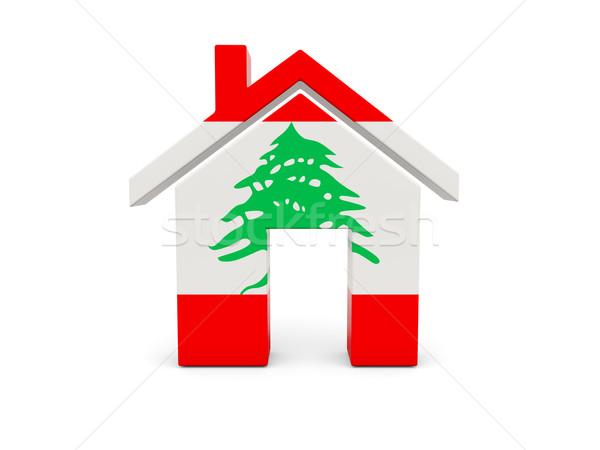 ホーム フラグ レバノン 孤立した 白 検索 ストックフォト © MikhailMishchenko