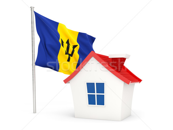 Huis vlag Barbados geïsoleerd witte Stockfoto © MikhailMishchenko