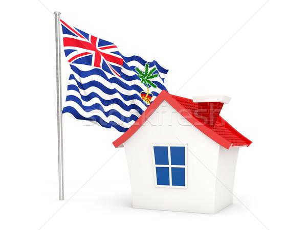 House with flag of british indian ocean territory Stock photo © MikhailMishchenko