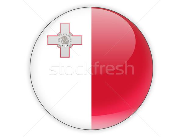 ícone bandeira Malta isolado branco viajar Foto stock © MikhailMishchenko