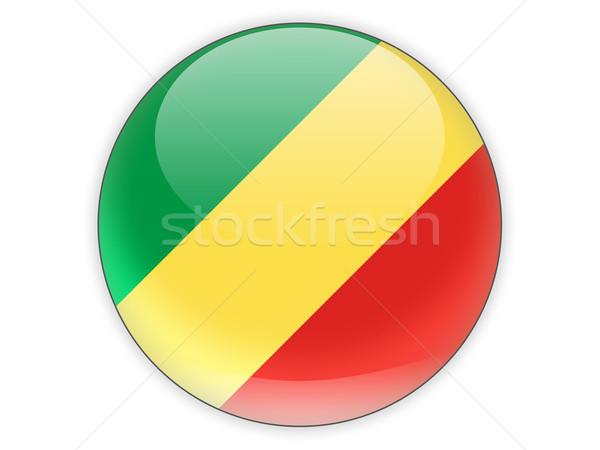 Icono bandera república Congo aislado blanco Foto stock © MikhailMishchenko