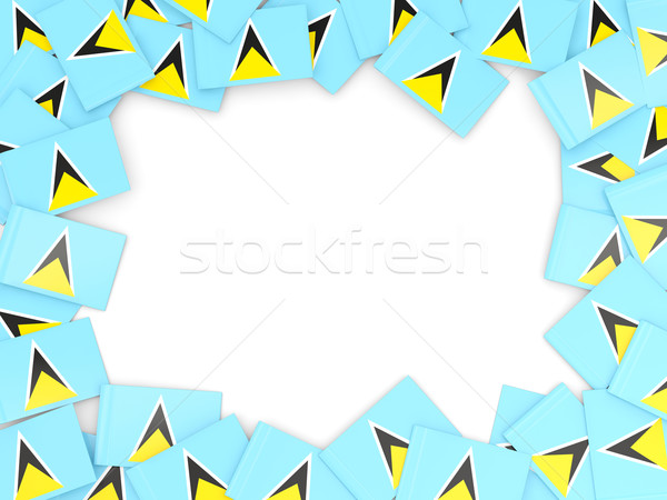 Frame with flag of saint lucia Stock photo © MikhailMishchenko