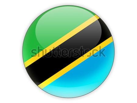 Symbol Flagge Tansania isoliert weiß Reise Stock foto © MikhailMishchenko