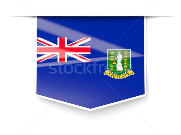 Square label with flag of british virgin islands Stock photo © MikhailMishchenko