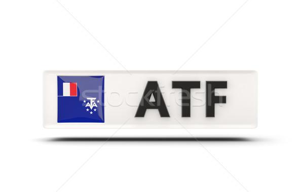 Cuadrados icono bandera francés meridional iso Foto stock © MikhailMishchenko