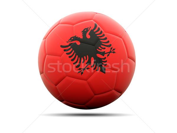 Fútbol bandera Albania 3d fútbol deporte Foto stock © MikhailMishchenko