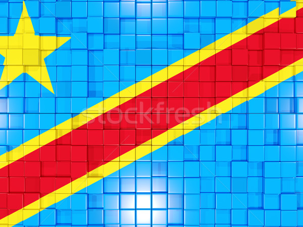 Background with square parts. Flag of democratic republic of the Stock photo © MikhailMishchenko