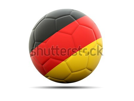 Football with flag of germany Stock photo © MikhailMishchenko
