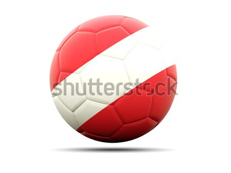 Football with flag of yemen Stock photo © MikhailMishchenko