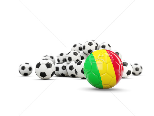Football with flag of mali isolated on white Stock photo © MikhailMishchenko