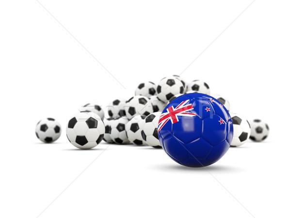 Fútbol bandera nuevos aislado blanco 3d Foto stock © MikhailMishchenko
