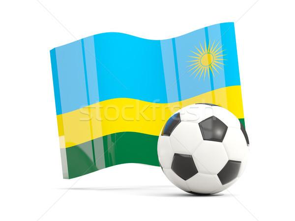 Football pavillon isolé blanche 3d illustration Photo stock © MikhailMishchenko