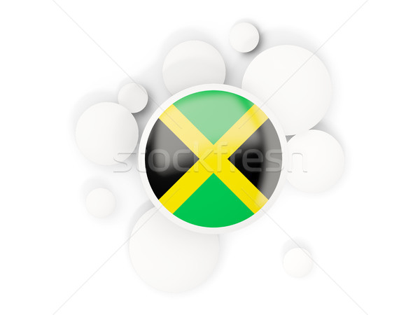 Round flag of jamaica with circles pattern Stock photo © MikhailMishchenko