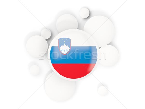 フラグ サークル パターン 孤立した 白 3次元の図 ストックフォト © MikhailMishchenko