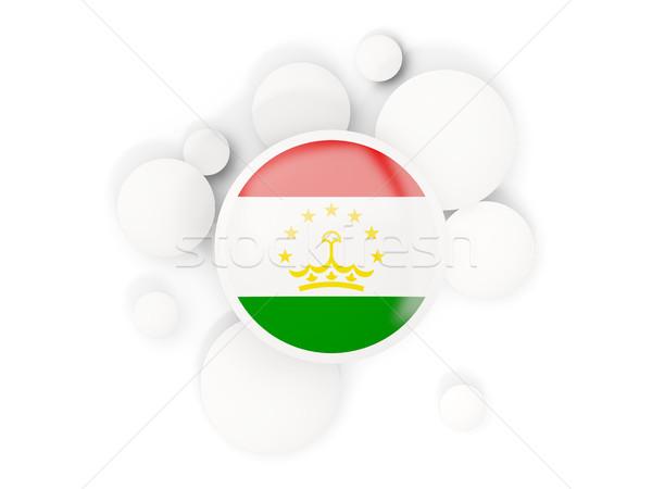 Round flag of tajikistan with circles pattern Stock photo © MikhailMishchenko