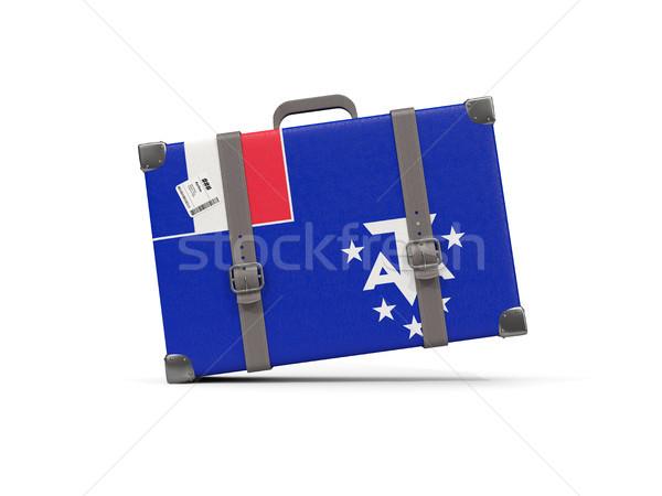 Bagaglio bandiera francese meridionale valigia isolato Foto d'archivio © MikhailMishchenko