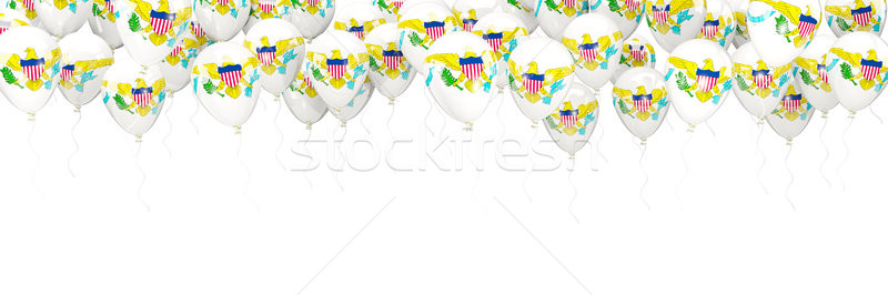 Balloons frame with flag of virgin islands us Stock photo © MikhailMishchenko