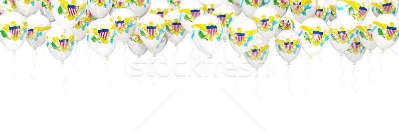 Léggömbök keret zászló Virgin-szigetek izolált fehér Stock fotó © MikhailMishchenko