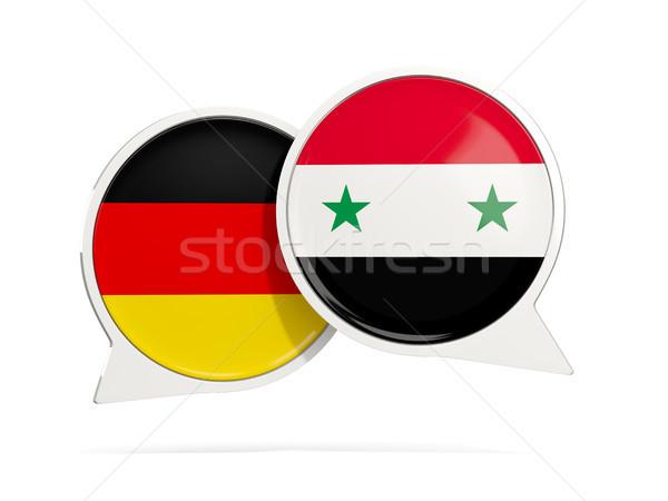 Chat bubbels Duitsland Syrië geïsoleerd witte Stockfoto © MikhailMishchenko