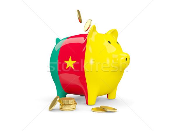 жира Piggy Bank Камерун деньги изолированный белый Сток-фото © MikhailMishchenko