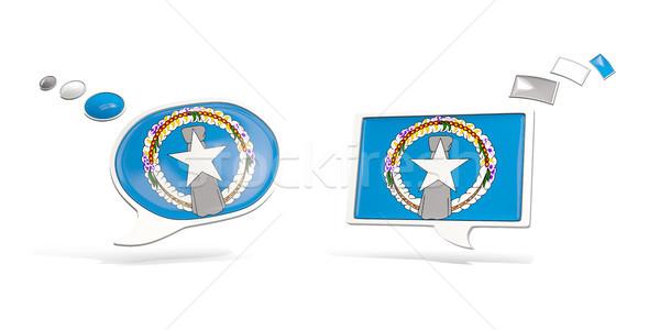 Dois conversar ícones bandeira norte Foto stock © MikhailMishchenko