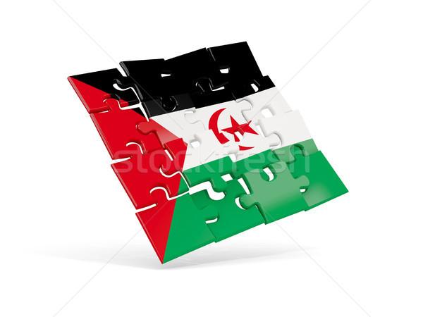 Bilmece bayrak batı sahara yalıtılmış beyaz Stok fotoğraf © MikhailMishchenko