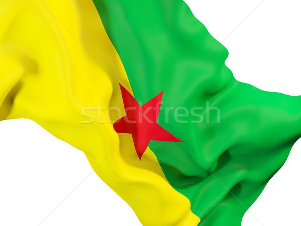 Waving flag of french guiana Stock photo © MikhailMishchenko