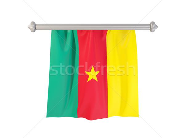 Bandeira Camarões isolado branco ilustração 3d etiqueta Foto stock © MikhailMishchenko