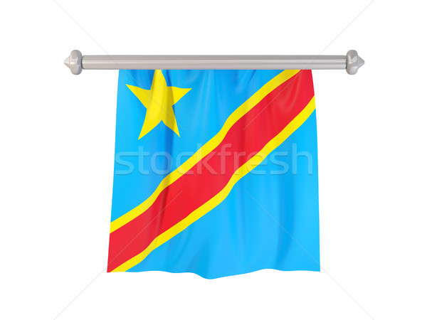 Pennant with flag of democratic republic of the congo Stock photo © MikhailMishchenko