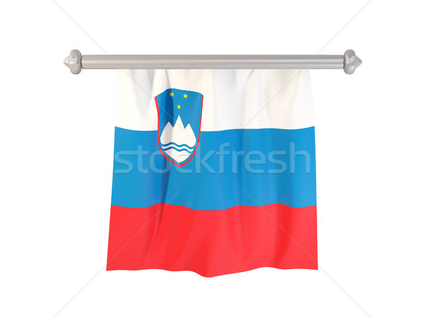 Pennant with flag of slovenia Stock photo © MikhailMishchenko