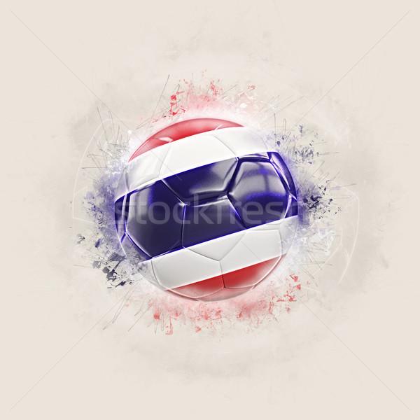 Grunge fútbol bandera Tailandia 3d diseno Foto stock © MikhailMishchenko