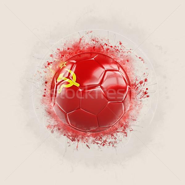 Grunge futbol bayrak sscb 3d illustration dünya Stok fotoğraf © MikhailMishchenko